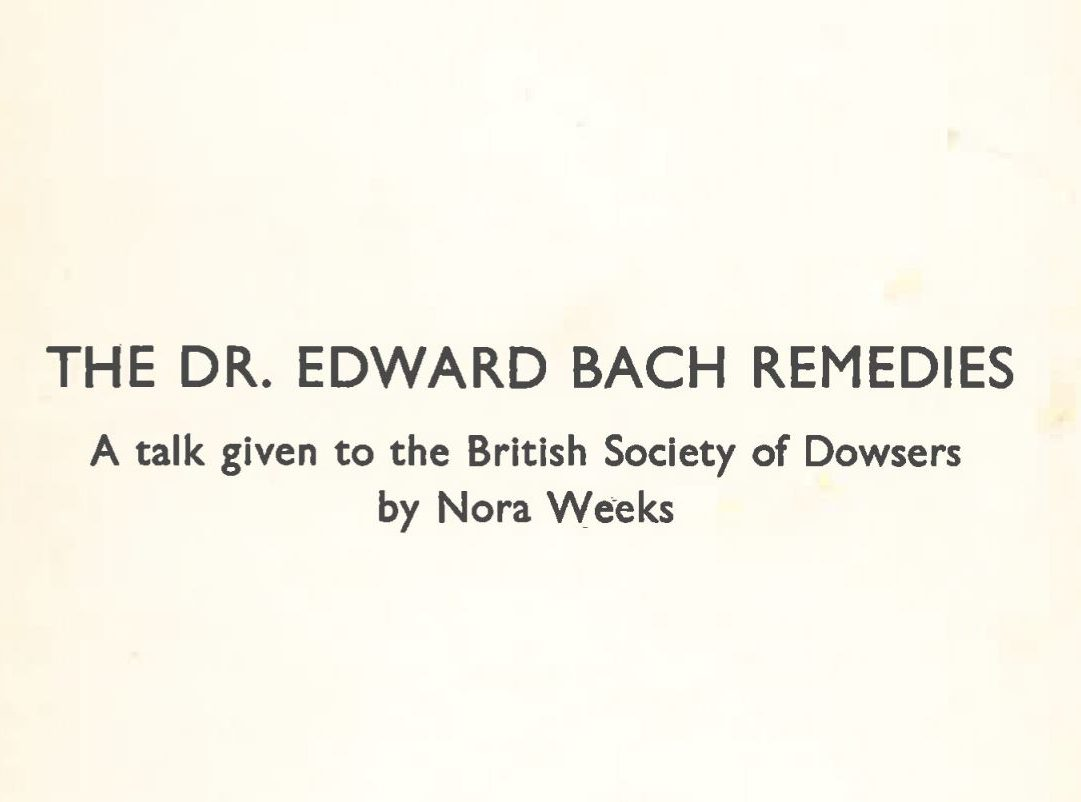 Dr Edward Bach Remedies
